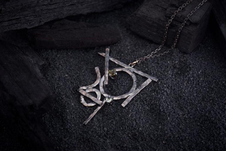 Moldavite Keep The Silence Jewellery Erika Kundavičiūtė Amulet